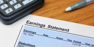earning statement paycheck
