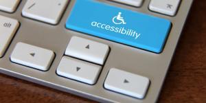wheelchair logo on keyboard