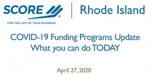 COVID-19 Funding Programs - What can small businesses can do today