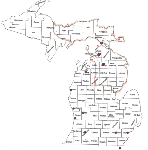 map of michigan counties