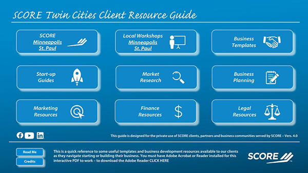 SCORE Twin Cities Client Resource Guide