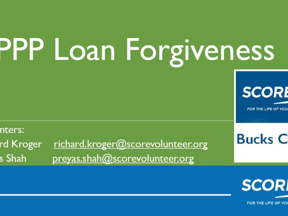 PPP Loan Forgiveness slides