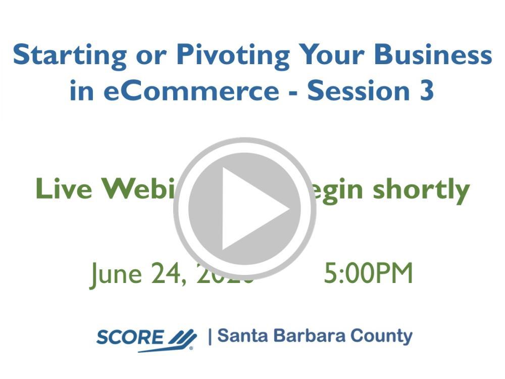 Marketing eCommerce Recorded Webinar