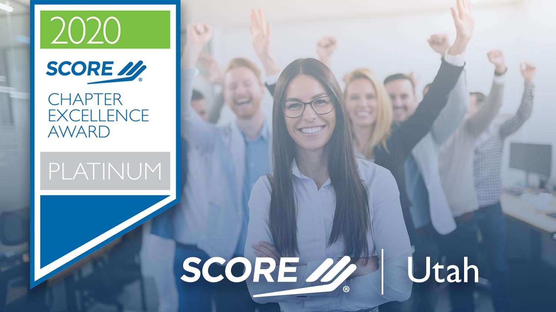 SCORE Utah Platinum Chapter Excellence Award 2020
