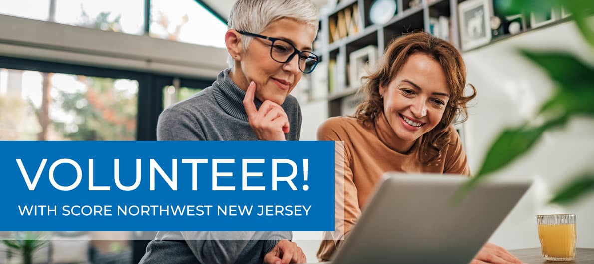 Become a SCORE Northwest New Jersey Volunteer