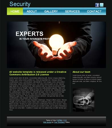 Top Free Corporate Dreamweaver Templates - Template website dreamweaver free