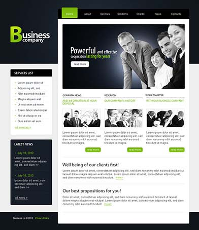 free professional dreamweaver templates - top free corporate dreamweaver templates