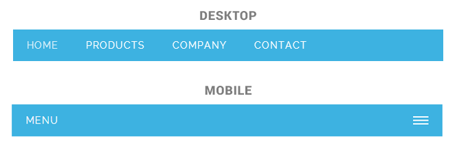 5 Free Responsive Menus Navigations for Mobile