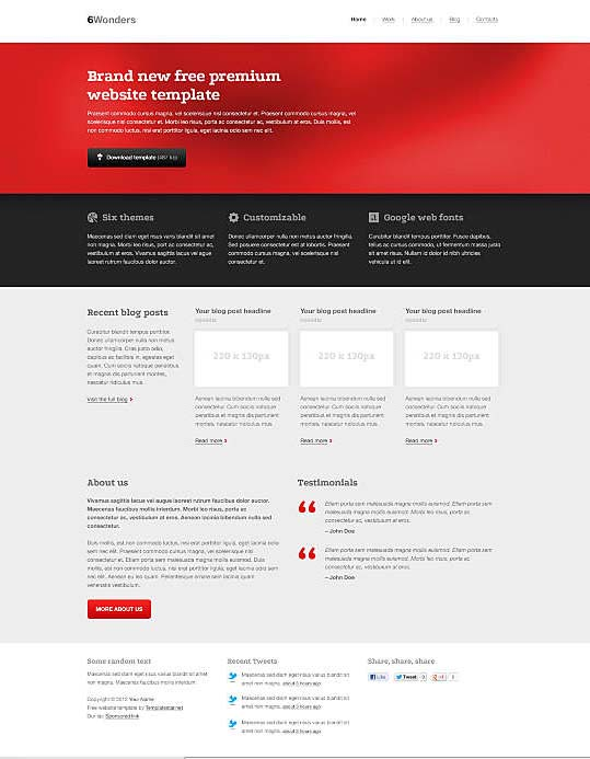 dreamweaver corporate templates 5