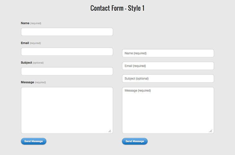 CSS Form Template Roundup
