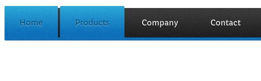 Big Blue CSS Tabs