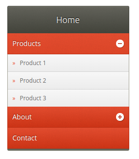 Collapsible Sidebar Menu