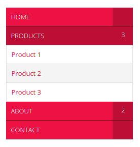 jQuery Sidebar Accordion Menu