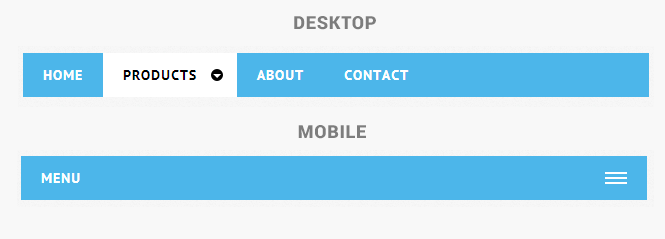 Animated Responsive Drop Down Mobile Menu