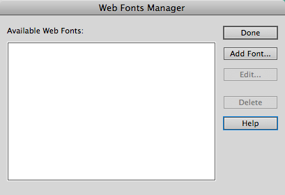 dreamweaver custom fonts