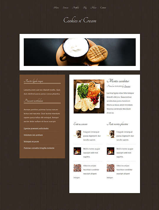 dream weaver web template