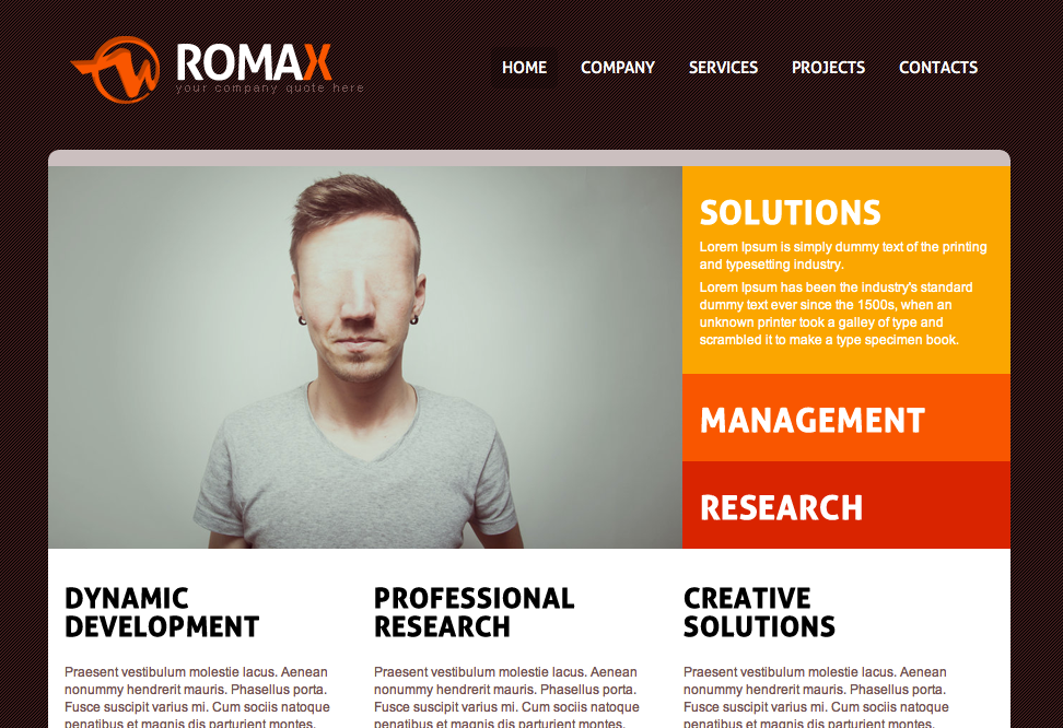Free dreamweaver business website templates 7 romax wajeb Images