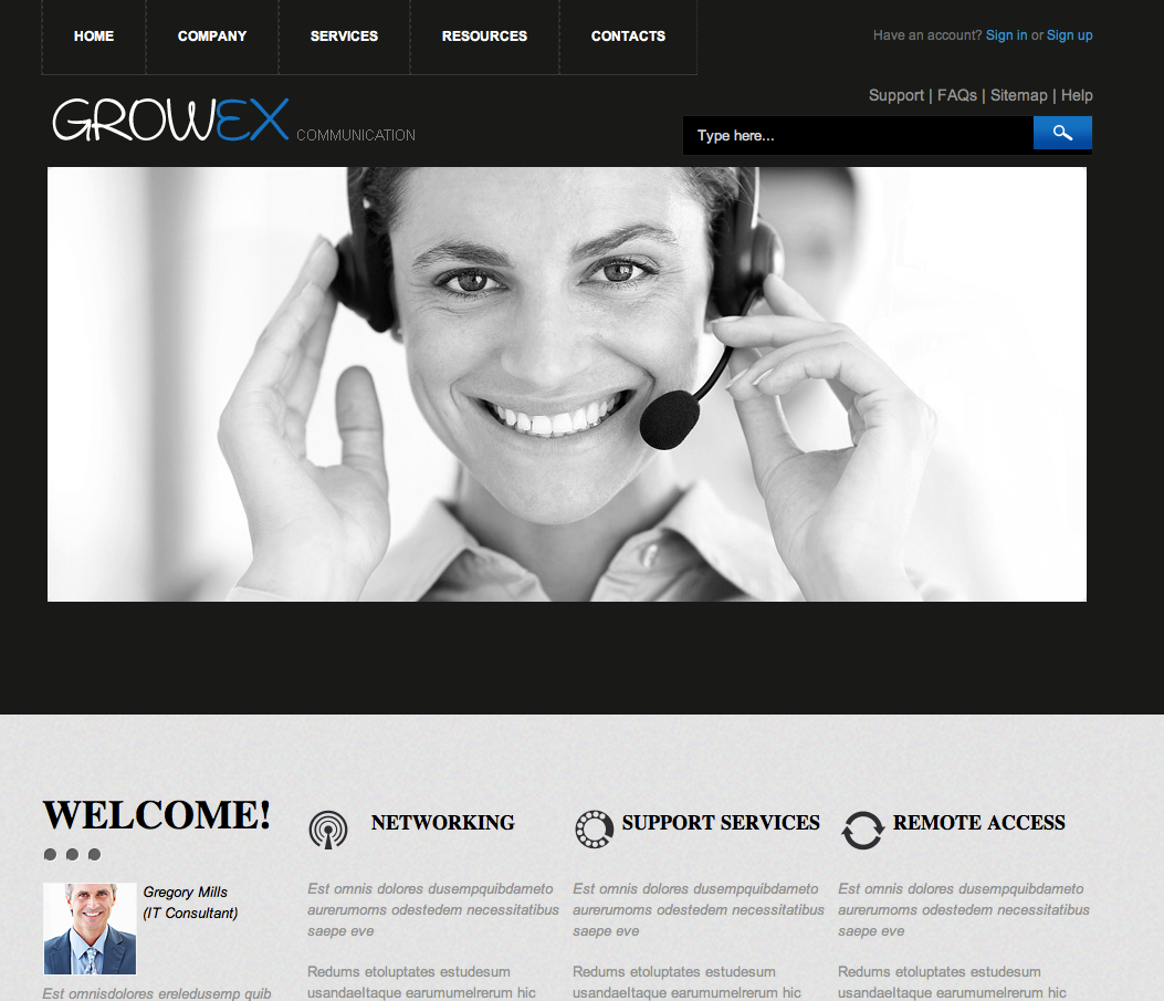 Free dreamweaver business website templates for Dreamweaver layout templates