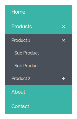 vertical css menu with submenu free download