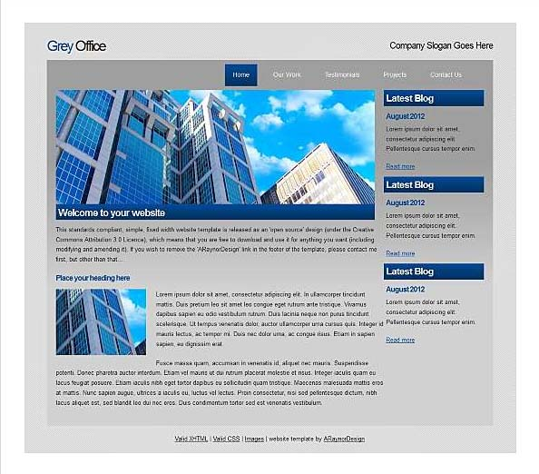 Top free corporate dreamweaver templates for Dream weaver template
