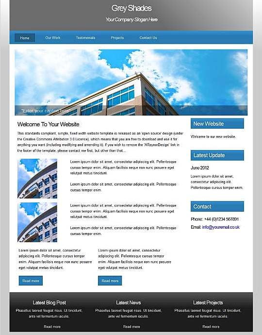 Dreamweaver Corporate Templates 2