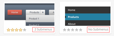 How to view the number of submenus available per design