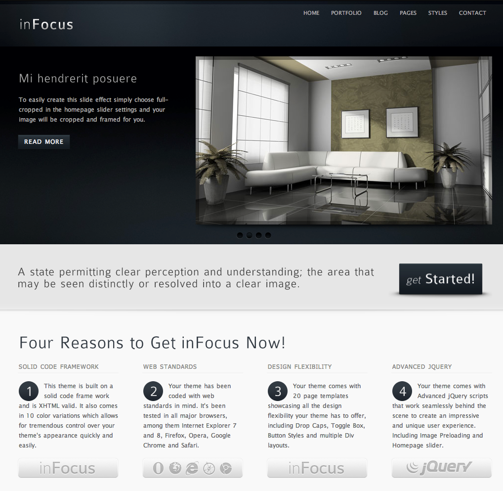 Business website templates infocus wajeb Image collections