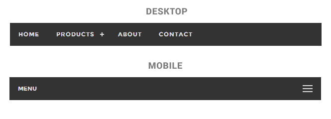Responsive Flat Menu for Mobile Devices