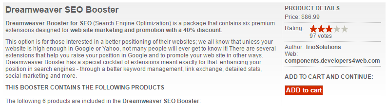 Dreamweaver Seo Booster