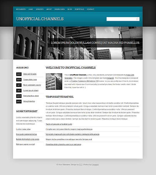 Dreamweaver Corporate Templates 6