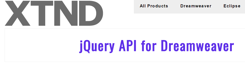 jQuery API For Dreamweaver