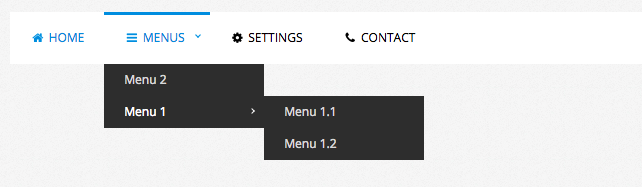Dual-Tone Javascript Drop Down Menu