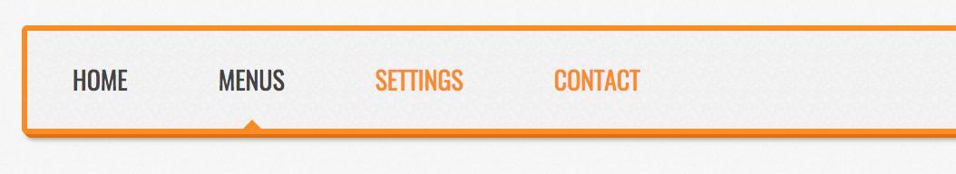 Responsive Horizontal CSS Menu