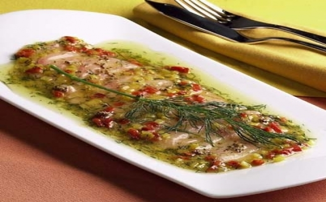 Carpaccio de lenguado