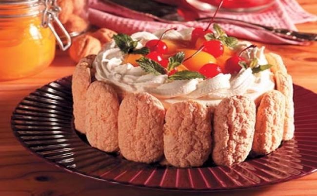 Torta helada de nueces