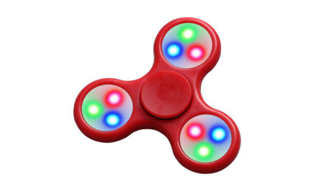fidget spinner con luces