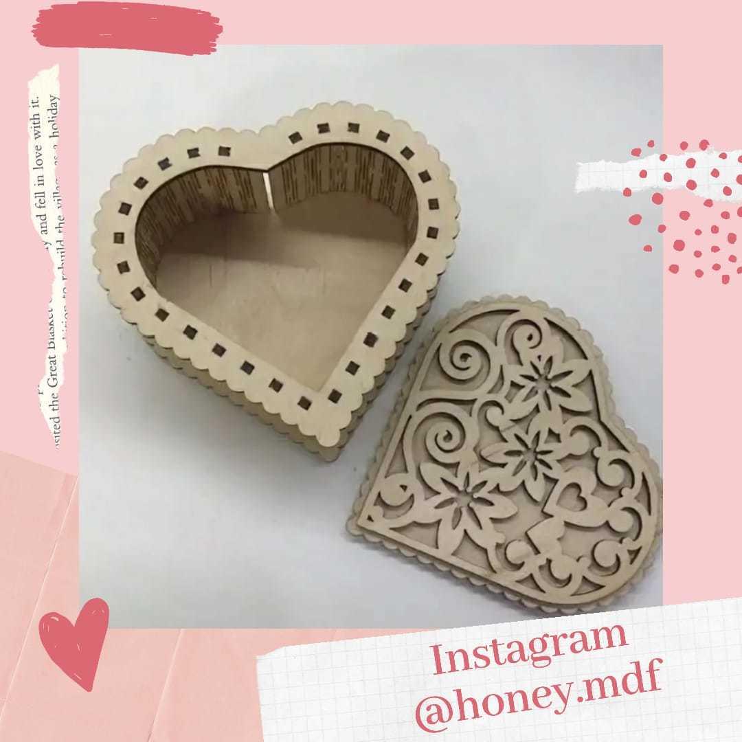 Caixa Coração em MDF