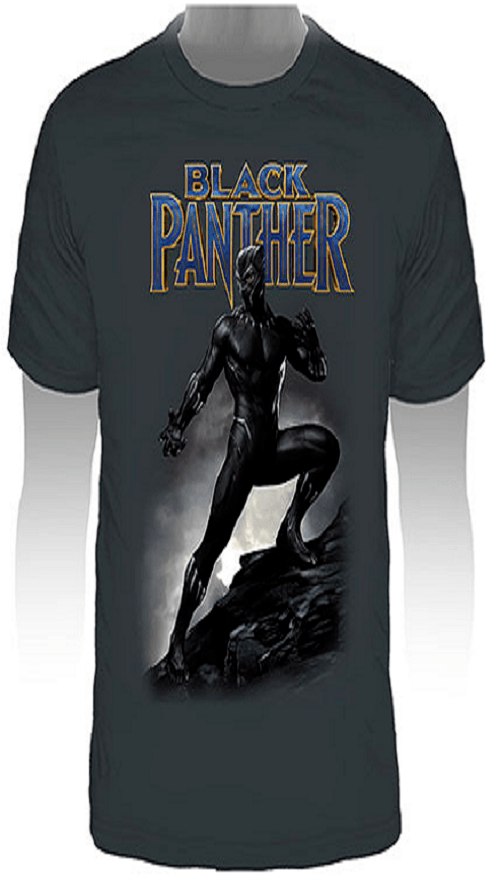 Camiseta Pantera Negra - Cinza