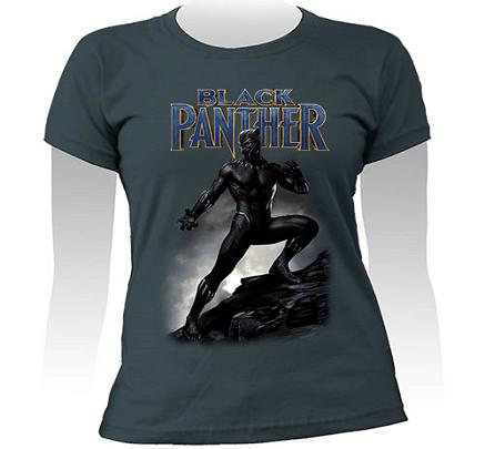 Camiseta  Pantera Negra Feminina
