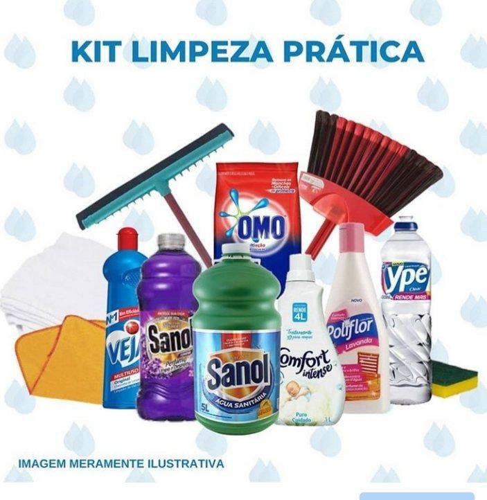 KIT DE LIMPEZA PRATICA C/ 112 ITENS
