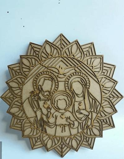 Mandala Sagrada Familia 38x38xm