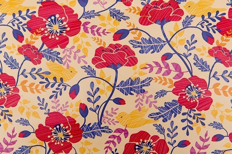 Papel De Parede Adesivo Lavável Contact Flores 1mx45cm