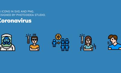 Descarga la nueva colección de 300 íconos sobre el coronavirus