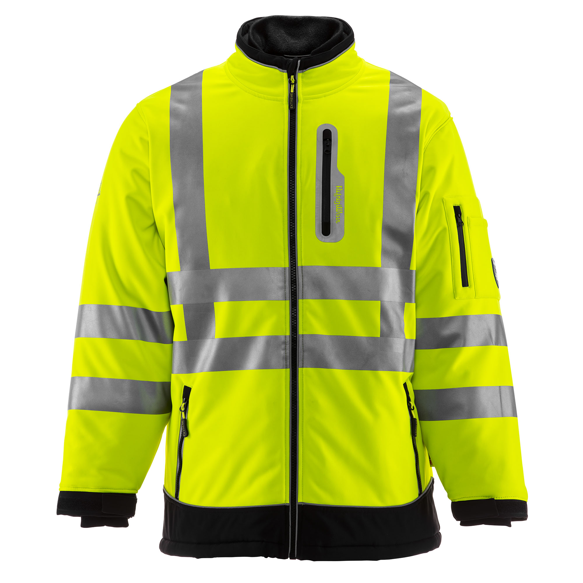 85c3ea9cc60b Details about RefrigiWear Men s Insulated HiVis Extreme Softshell Jacket  with Reflective Tape