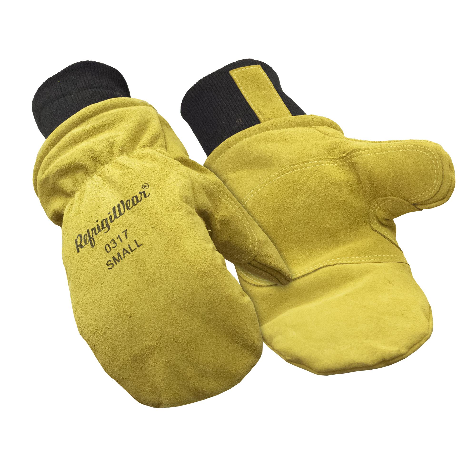 RefrigiWear Warm Fiberfill Insulated Tricot Lined Goatskin Leather Work Gloves