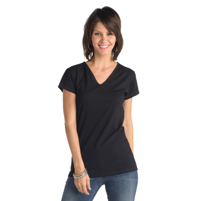 Misses V-Neck Short Sleeve
