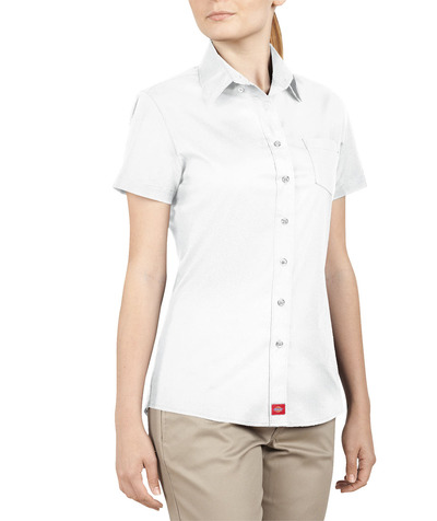 Juniors Short Sleeve Button-Down Shirt
