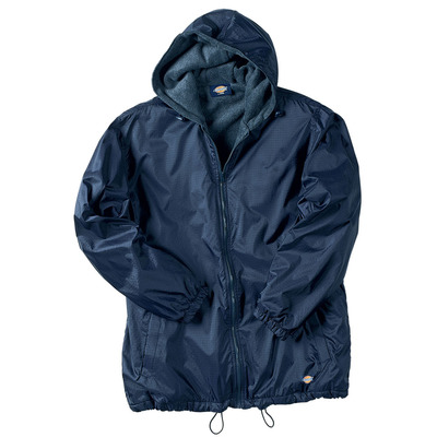 Fleece Lined Nylon Hooded Jacket