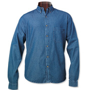 Sierra Pacific 3211 Men's Long Sleeve Denim Shirt