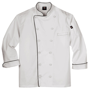 Dickies Occupational DCP103 EXECUTIVE CHEF COAT W PIPING